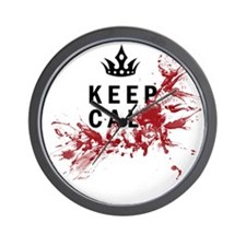 Keep Calm Bloody Shirt Wall Clock