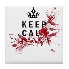 Keep Calm Bloody Shirt Tile Coaster