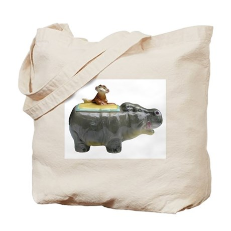 Hippo & Monkey Basic Tote Bag