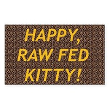 Raw Fed Kitty Kennel Decal Rectangle Decal
