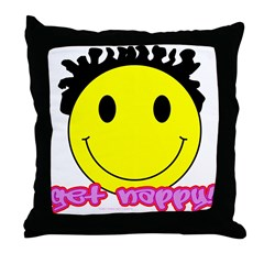Get Nappy Throw Pillow