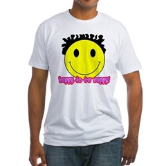 Happy To Be Nappy Fitted T-Shirt