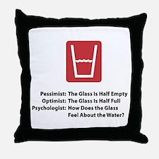 Psychologist Glass Throw Pillow
