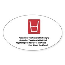 Psychologist Glass Oval Decal