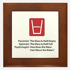 Psychologist Glass Framed Tile