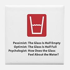 Psychologist Glass Tile Coaster