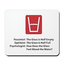 Psychologist Glass Mousepad