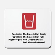 Psychologist Glass Mousepad