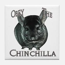 Chinchilla Obey Tile Coaster