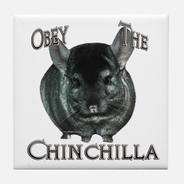 Chinchilla Obey Tile Coaster