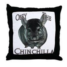 Chinchilla Obey Throw Pillow