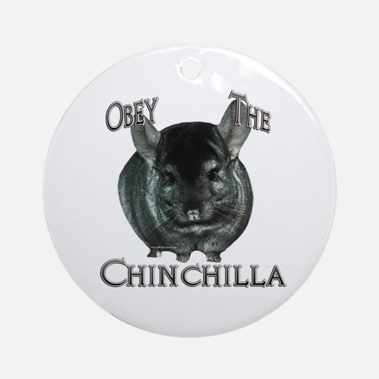 Chinchilla Obey Ornament (Round)