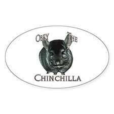 Chinchilla Obey Oval Bumper Stickers