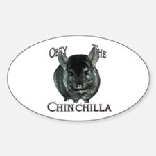 Chinchilla Obey Oval Decal