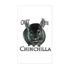 Chinchilla Obey Rectangle Decal