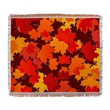 Autumn Leaves Woven Blanket