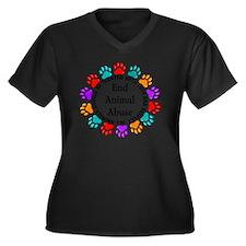 T-Fund 2 Ani Women's Plus Size V-Neck Dark T-Shirt