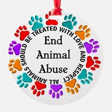 T-Fund 2 Animal Abuse Ornament