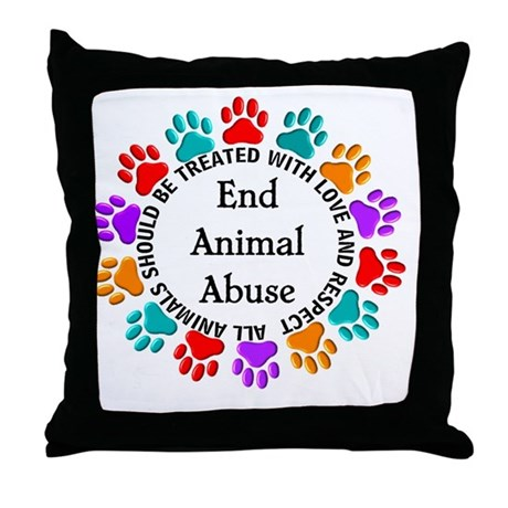 Down Pillows Animal Cruelty : T-Fund 2 Animal Abuse Throw Pillow by Admin_CP11157433