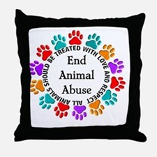 T-Fund 2 Animal Abuse Throw Pillow