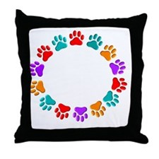t=fund animal abuse DARKS Throw Pillow