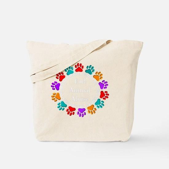 t=fund animal abuse DARKS Tote Bag