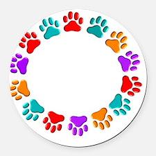 t=fund animal abuse DARKS Round Car Magnet