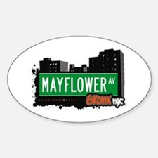 Mayflower Av, Bronx, NYC Oval Decal