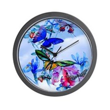 Throw Stadium Blkt Take Flight Butterfl Wall Clock