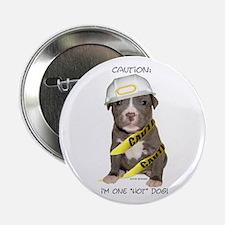 Pit Bull Terrier Puppy Button