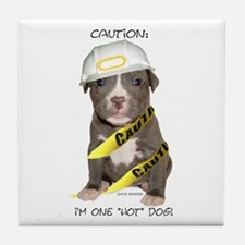 Pit Bull Terrier Puppy Tile Coaster