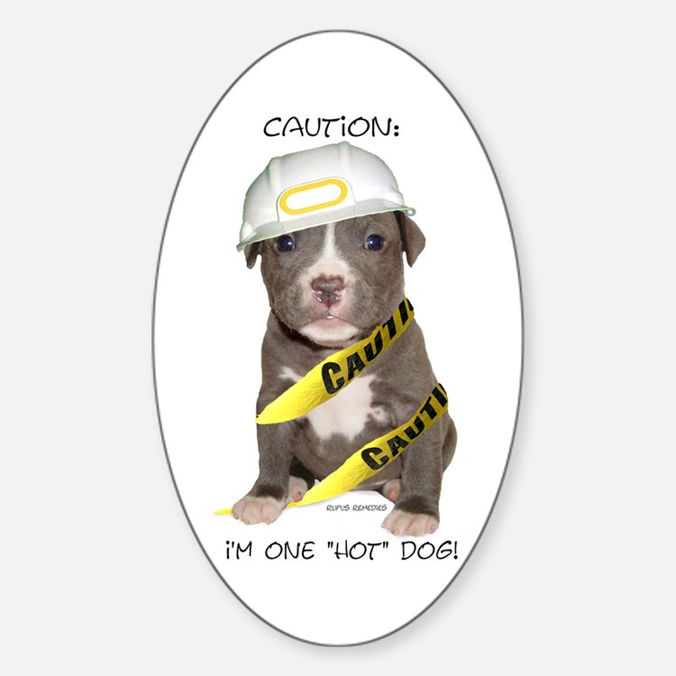 Pit Bull Terrier Puppy Oval Decal