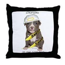 Pit Bull Terrier Puppy Throw Pillow