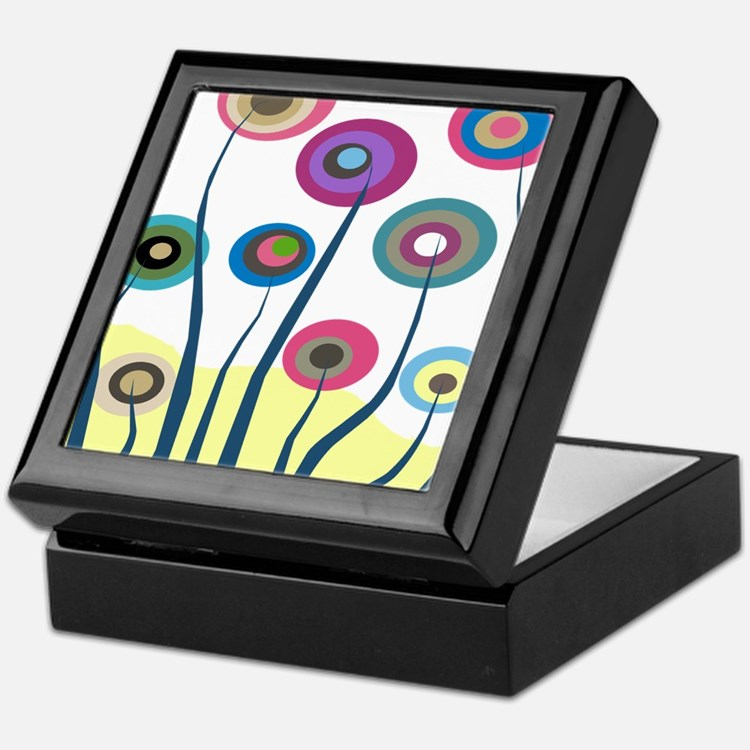 funky trees 6 Keepsake Box