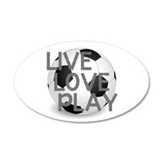 Live, Love, Play Soccer Wall Decal