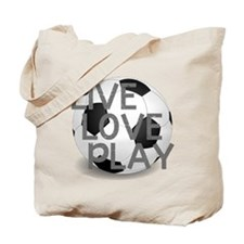 Live, Love, Play Soccer Tote Bag
