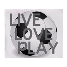 Live, Love, Play Soccer Throw Blanket