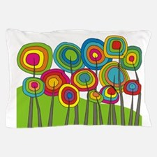 Funky Trees 10 colorful King Pillow Case