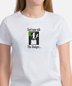 Don't mess with the Badger! 2-sided Knight Shir T-