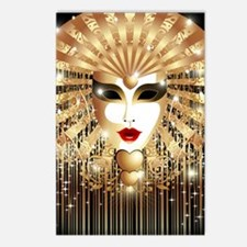 Golden Venice Carnival Ma Postcards (Package of 8)