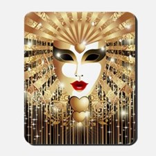 Golden Venice Carnival Mask Mousepad