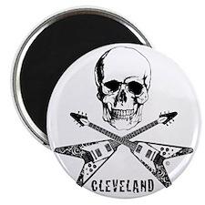 CLE Skull Crossed Guitars Magnet
