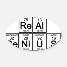 Real Genius Oval Car Magnet