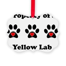 Property Of A Yellow Lab Ornament