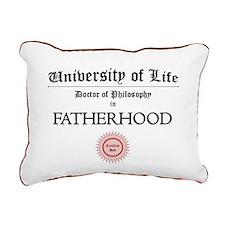 Doctorate in Fatherhood Rectangular Canvas Pillow