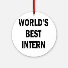 World's Best Intern Ornament (Round)