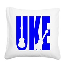 Big Bold Uke Square Canvas Pillow