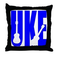 Big Bold Uke Throw Pillow