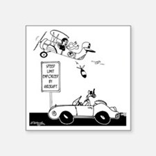 "Speed Limit Enforced from A Square Sticker 3"" x 3"""