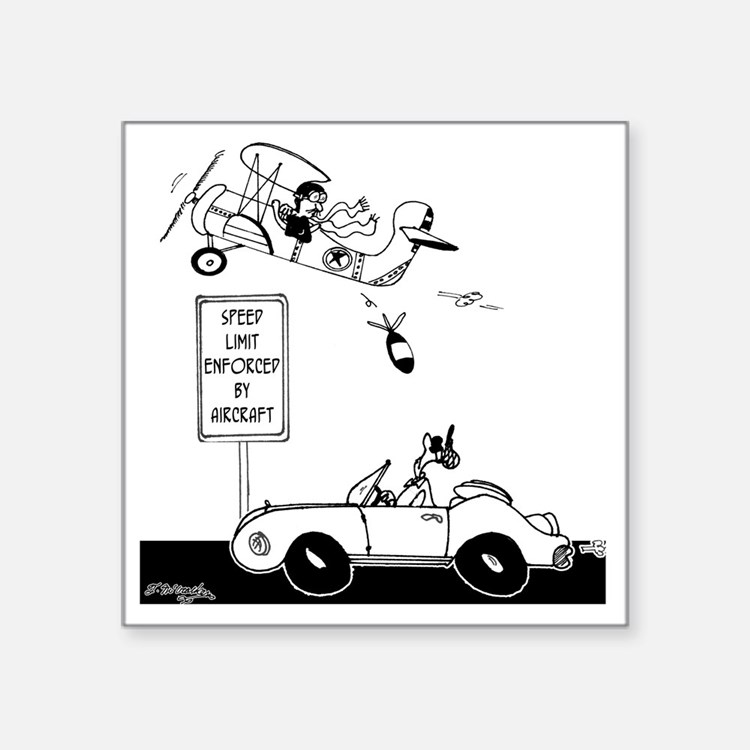 """Speed Limit Enforced from A Square Sticker 3"""" x 3"""""""